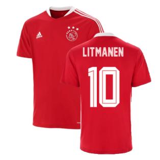 2021-2022 Ajax Training Jersey (Red) (LITMANEN 10)