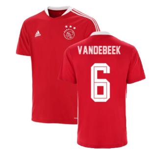 2021-2022 Ajax Training Jersey (Red) (VAN DE BEEK 6)