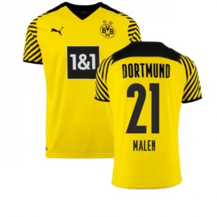 2021-2022 Borussia Dortmund Home Shirt (MALEN 21)