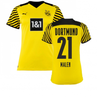 2021-2022 Borussia Dortmund Home Shirt (Ladies) (MALEN 21)