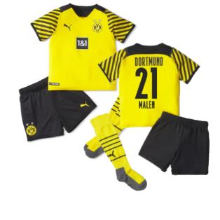 2021-2022 Borussia Dortmund Home Mini Kit (MALEN 21)