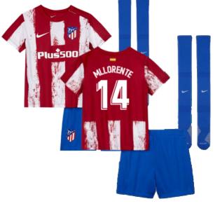 2021-2022 Atletico Madrid Little Boys Home Shirt (M LLORENTE 14)