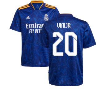 Real Madrid 2021-2022 Away Shirt (Kids) (VINI JR 20)