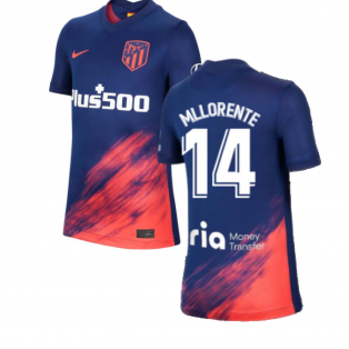 2021-2022 Atletico Madrid Away Shirt (Kids) (M LLORENTE 14)