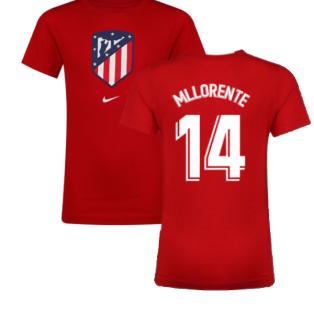 2021-2022 Atletico Madrid Evergreen Crest Tee (Red) (M LLORENTE 14)