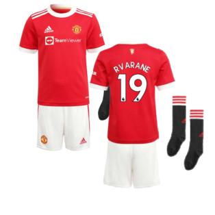Man Utd 2021-2022 Home Mini Kit (R VARANE 19)