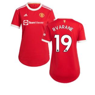 Man Utd 2021-2022 Home Shirt (Ladies) (R VARANE 19)