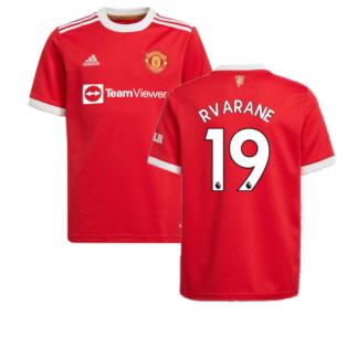 Man Utd 2021-2022 Home Shirt (Kids) (R VARANE 19)