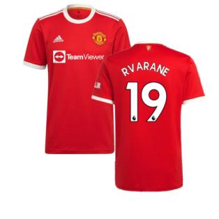 Man Utd 2021-2022 Home Shirt (R VARANE 19)