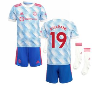 Man Utd 2021-2022 Away Mini Kit (R VARANE 19)