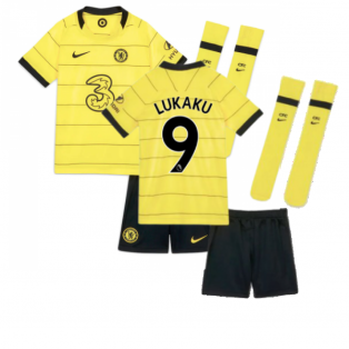 2021-2022 Chelsea Little Boys Away Mini Kit (LUKAKU 9)