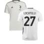 2021-2022 Juventus Training Shirt (White) (LOCATELLI 27)