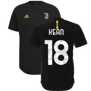 2021-2022 Juventus Travel Tee (Black) (KEAN 18)