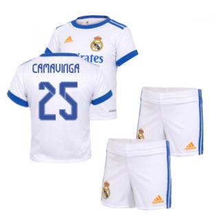 Real Madrid 2021-2022 Home Baby Kit (CAMAVINGA 25)