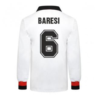 AC Milan 1963 European Cup Final Retro Football Shirt (BARESI 6)