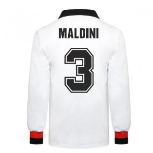 AC Milan 1963 European Cup Final Retro Football Shirt (MALDINI 3)