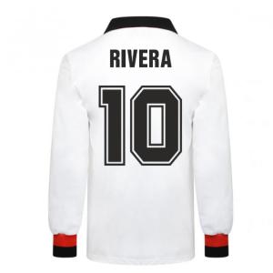 AC Milan 1963 European Cup Final Retro Football Shirt (Rivera 10)