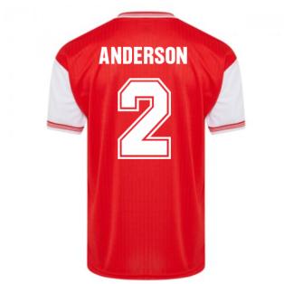 Score Draw Arsenal 1985 Centenary Retro Football Shirt (Anderson 2)