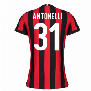 2017-2018 AC Milan Womens Home Shirt (Antonelli 31)