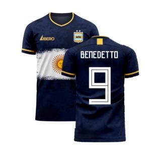 Argentina 2020-2021 Away Concept Football Kit (Libero) (BENEDETTO 9)