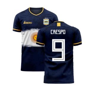 Argentina 2020-2021 Away Concept Football Kit (Libero) (CRESPO 9)