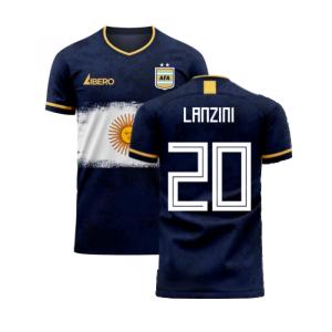 Argentina 2020-2021 Away Concept Football Kit (Libero) (LANZINI 20)