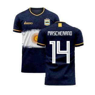 Argentina 2020-2021 Away Concept Football Kit (Libero) (MASCHERANO 14)