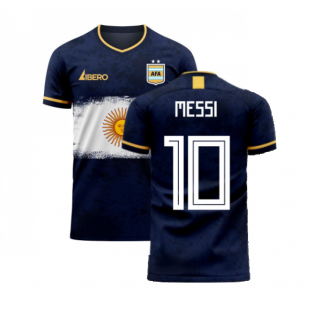 Argentina 2020-2021 Away Concept Football Kit (Libero) (MESSI 10)