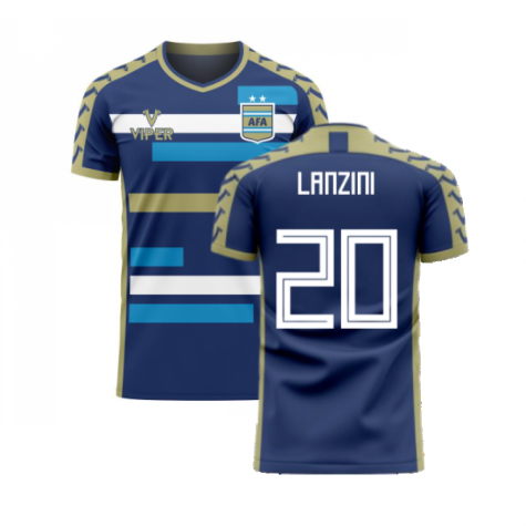 Argentina 2020-2021 Away Concept Football Kit (Viper) (LANZINI 20)