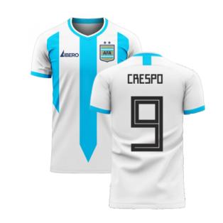 Argentina 2020-2021 Home Concept Football Kit (Libero) (CRESPO 9)