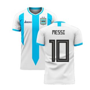 Argentina 2020-2021 Home Concept Football Kit (Libero) (MESSI 10)