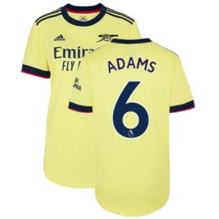 Arsenal 2021-2022 Away Shirt (Ladies) (ADAMS 6)
