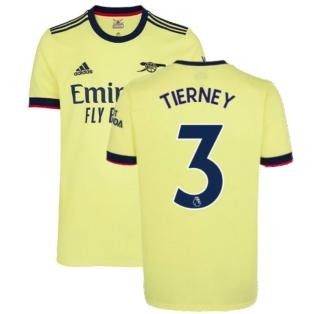 Arsenal 2021-2022 Away Shirt (TIERNEY 3)