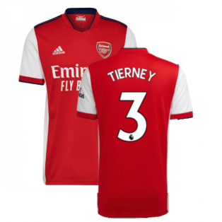 Arsenal 2021-2022 Home Shirt (TIERNEY 3)