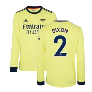 Arsenal 2021-2022 Long Sleeve Away Shirt (DIXON 2)