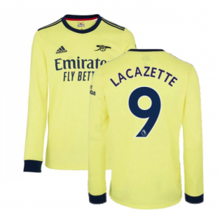 Arsenal 2021-2022 Long Sleeve Away Shirt (LACAZETTE 9)