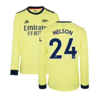 Arsenal 2021-2022 Long Sleeve Away Shirt (NELSON 24)