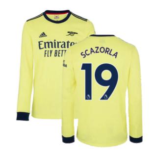 Arsenal 2021-2022 Long Sleeve Away Shirt (S CAZORLA 19)