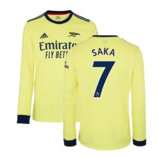 Arsenal 2021-2022 Long Sleeve Away Shirt (SAKA 7)