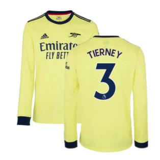 Arsenal 2021-2022 Long Sleeve Away Shirt (TIERNEY 3)