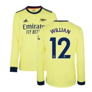 Arsenal 2021-2022 Long Sleeve Away Shirt (WILLIAN 12)