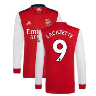 Arsenal 2021-2022 Long Sleeve Home Shirt (LACAZETTE 9)