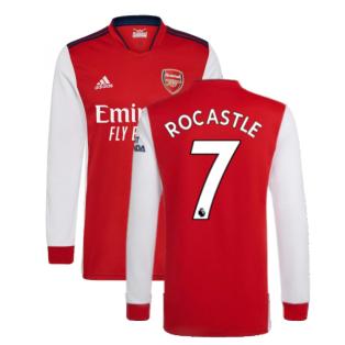 Arsenal 2021-2022 Long Sleeve Home Shirt (ROCASTLE 7)