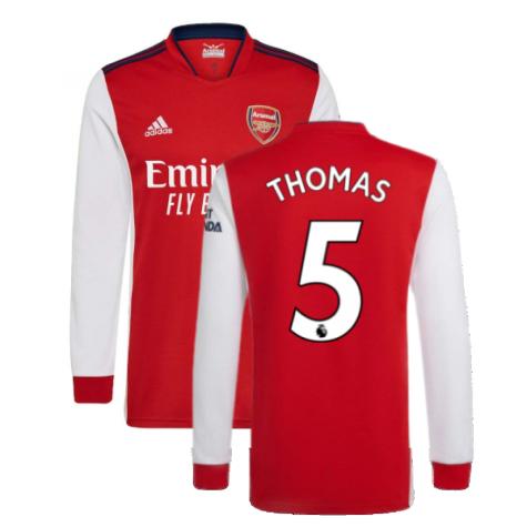Arsenal 2021-2022 Long Sleeve Home Shirt (Thomas 5)