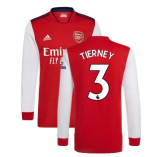 Arsenal 2021-2022 Long Sleeve Home Shirt (TIERNEY 3)