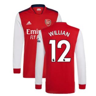 Arsenal 2021-2022 Long Sleeve Home Shirt (WILLIAN 12)