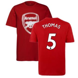 Arsenal 2021-2022 Tee (Scarlet) (Thomas 5)