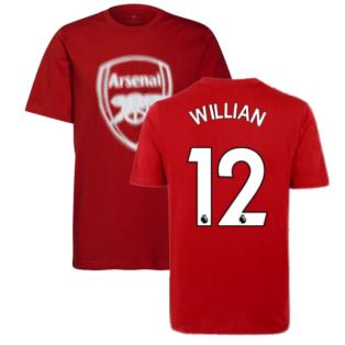 Arsenal 2021-2022 Tee (Scarlet) (WILLIAN 12)