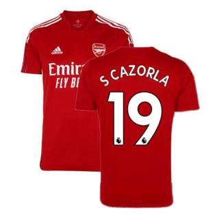 Arsenal 2021-2022 Training Shirt (Active Maroon) - Kids (S CAZORLA 19)