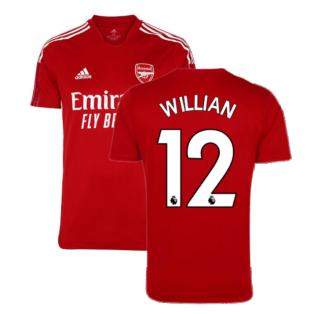 Arsenal 2021-2022 Training Shirt (Active Maroon) - Kids (WILLIAN 12)